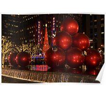 New York city at night during Christmas holiday 1 Poster