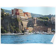 Yachts in Sorrento Harbor Poster