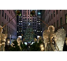 Rockefeller Christmas tree and ice skating rink pictured on December 19, 2011  Photographic Print