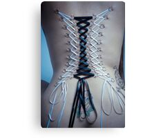 Corset with Ribbons Canvas Print
