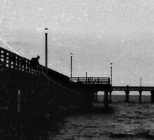 man on pier by ShellyKay