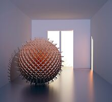 sculptur virus in the room by danwitz