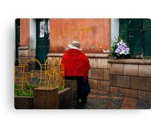 People 4243  Sucre, Bolivia Canvas Print