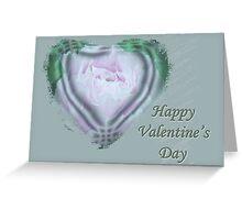 Valentine Pink Tree Peony Greeting Card