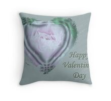 Valentine Pink Tree Peony Throw Pillow