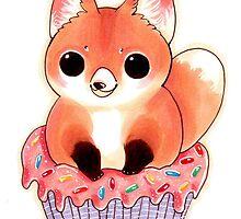 Cupcake Red Fox by BasilFox