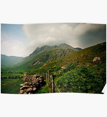 View of Langdale Pikes Poster