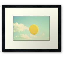yellow balloon Framed Print