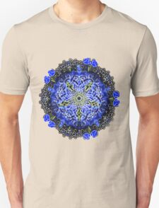 Blue Delphinium Celtic Flower Circle Unisex T-Shirt