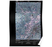 USGS Topo Map Washington State WA Omak 20110503 TM Inverted Poster