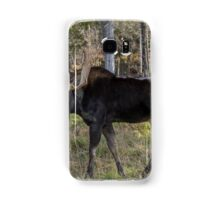 Moose in the fall woods Samsung Galaxy Case/Skin