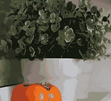 Still life with persimmon by Margarita K