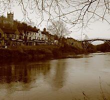 Iron Bridge & Town  by yampy