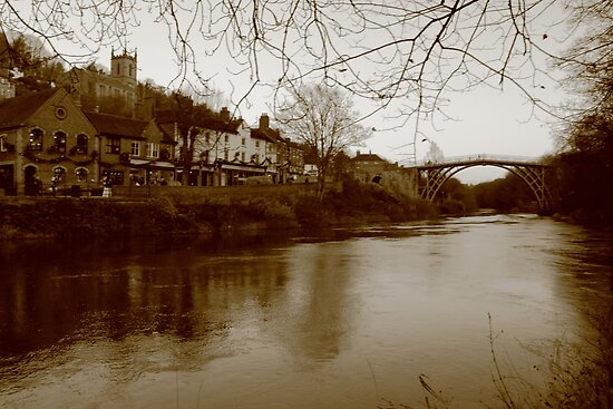 Iron Bridge & Town  by yampy