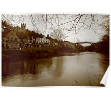 Iron Bridge & Town  Poster