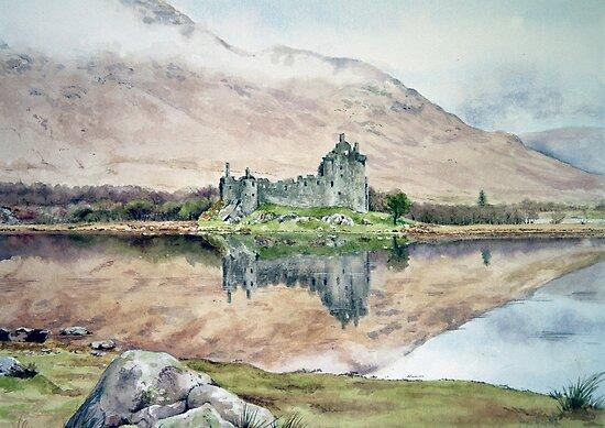 Kilchurn Castle Loch Awe by Joyce Grubb
