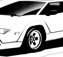 Halftone Countach Solo Sticker