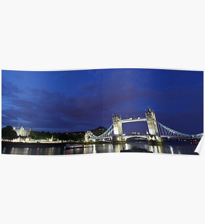 Tower Bridge and Tower of London Poster