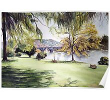 River Tay at Dunkeld,  Scotland Poster