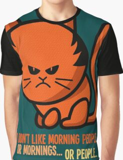 This grumpy cat is not a morning person Graphic T-Shirt