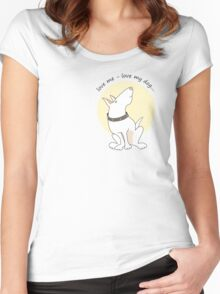 Love me love my dog... Women's Fitted Scoop T-Shirt