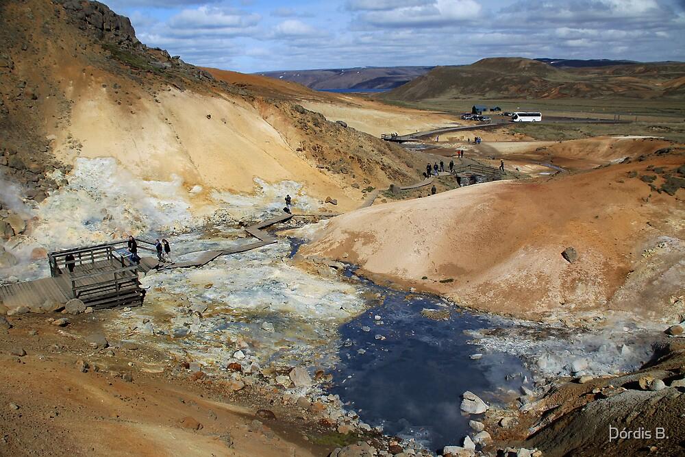 A  very popular turist location.  Krýsuvík by Þórdis B.