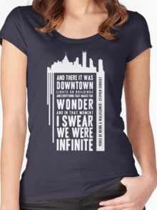 Infinite - White Women's Fitted Scoop T-Shirt