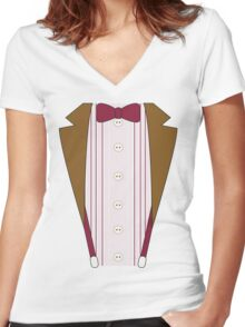 11th Doctor Outfit Women's Fitted V-Neck T-Shirt
