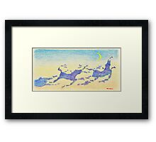Cloud Formations of Horses under the Crescent Moon Framed Print