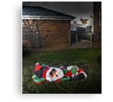 Too Much Eggnog For Santa Canvas Print