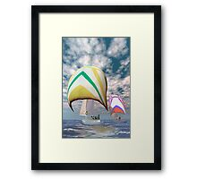 America's cup . . . the upset.  Framed Print