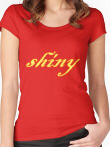 Shiny Women's Fitted Scoop T-Shirt