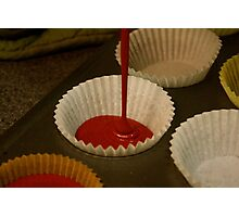 Red Velvet Cupcake Batter Photographic Print