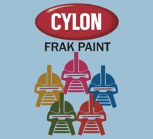 Cylon Frak Paint Kids Clothes