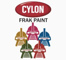 Cylon Frak Paint Kids Tee