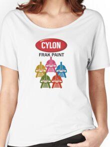 Cylon Frak Paint Women's Relaxed Fit T-Shirt
