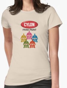 Cylon Frak Paint Womens Fitted T-Shirt