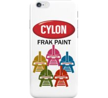 Cylon Frak Paint iPhone Case/Skin
