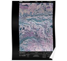 USGS Topo Map Washington State WA Cahill Mountain 20110421 TM Inverted Poster