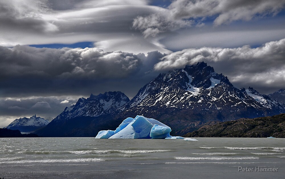 Iceberg, Mountains and Sky by Peter Hammer