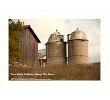 Two Silos Talking About The Barn Art Print