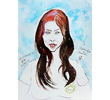 The Auburn Hair Blue Eyes Girl Photographic Print