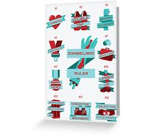 Rules of Zombieland Poster Greeting Card