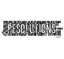 Resolutions Photographic Print