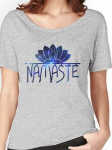 Galaxy Namaste Yoga Lotus Flower Women's Relaxed Fit T-Shirt