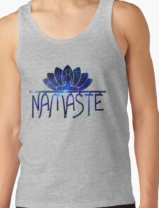 Galaxy Namaste Yoga Lotus Flower T-Shirt