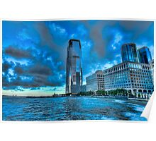 Jersey City downtown view Poster