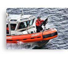 US Coast Guard At Work Canvas Print