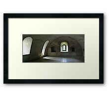 Medieval tower window Framed Print