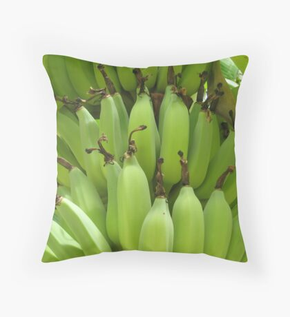 Bananas Rarotonga Throw Pillow
